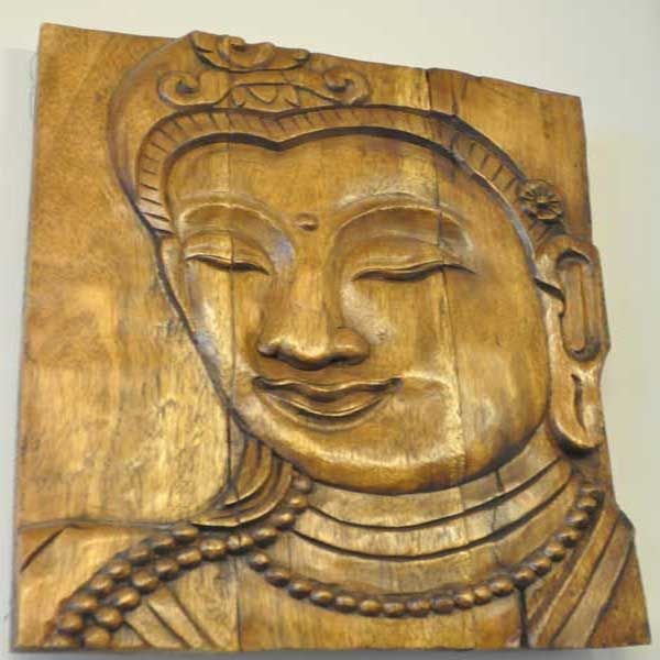 Buddha Panel Holz Small