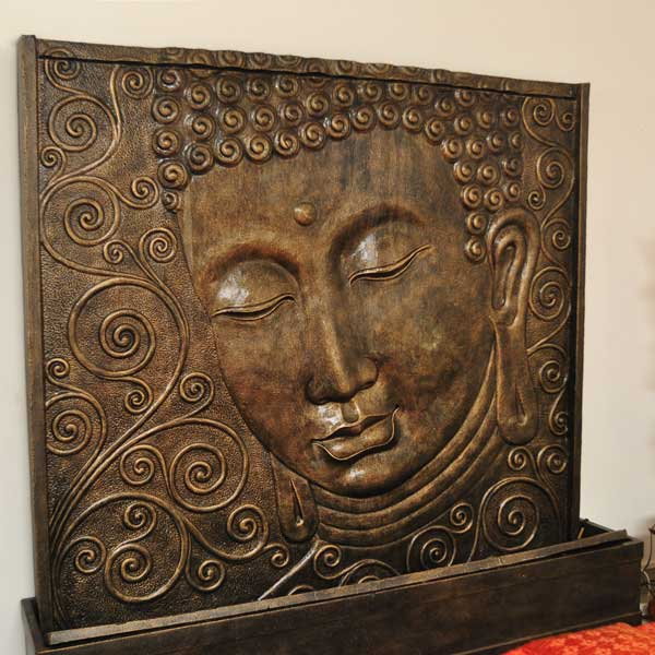 Wasserwand Buddha Gold Antique 200 x 200