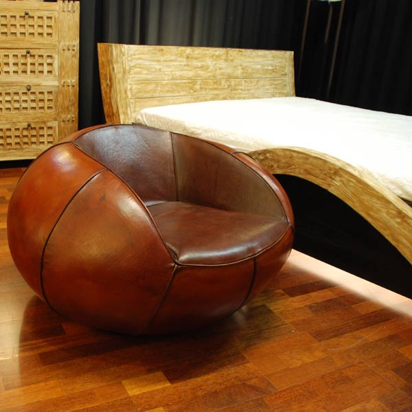 Lounge Chair Rondo Leather