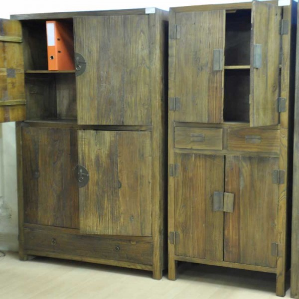 Large Cabinet Natural Elm 636